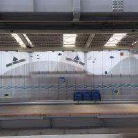 湘南モノレール様工事中壁面施工